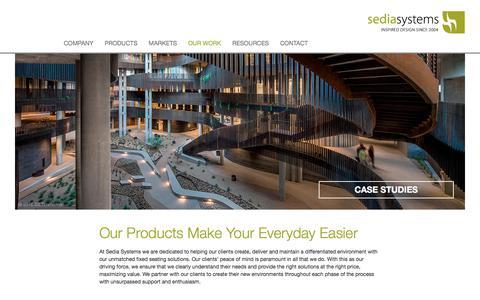 Screenshot of Case Studies Page sediasystems.com - Sedia Systems Case Studies - captured June 11, 2017