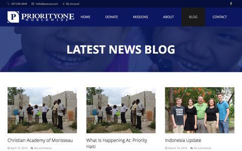 Screenshot of Blog priorityoneworldwide.com - Blog - Priority One Worldwide - captured July 16, 2016