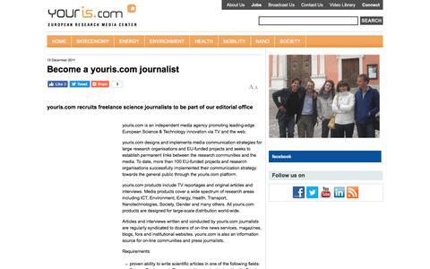 Screenshot of Jobs Page youris.com - Become a youris.com journalist - captured Oct. 27, 2017