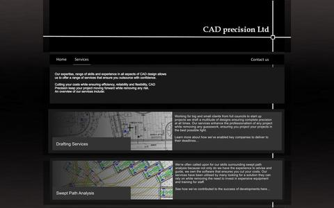 Screenshot of Services Page cad-precision.com - CAD precision Ltd - Services - captured Jan. 23, 2016