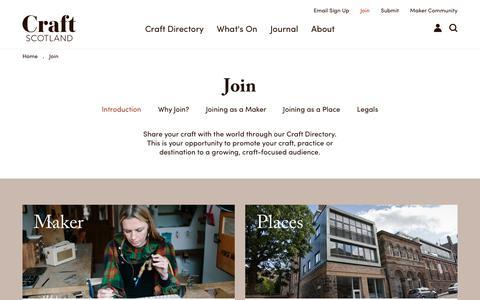 Screenshot of Signup Page craftscotland.org - Join - Craft Scotland - captured Dec. 14, 2017