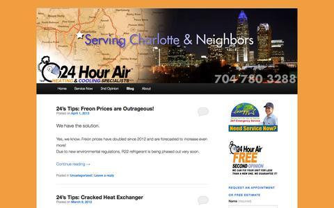 Screenshot of Blog 24hourair.com - Blog | 24hourair | Heating & AC Specialists - captured Oct. 9, 2014