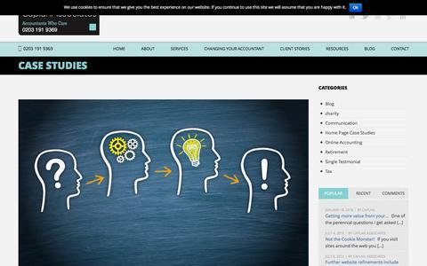 Screenshot of Case Studies Page developyour.biz - Case Studies  Caplan Associates - captured Jan. 25, 2016