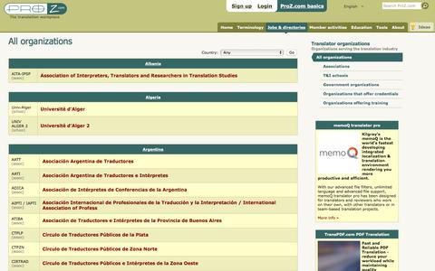 Translator organizations | ProZ.com