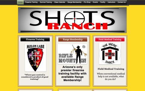 Screenshot of Home Page shotsranch.com - Shots Ranch - captured Oct. 6, 2014