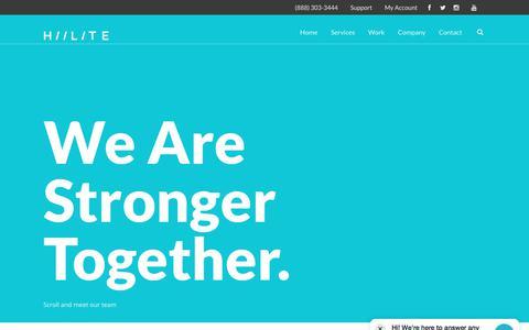 Screenshot of Team Page hiilite.com - Meet Our Team Members | Hiilite Marketing - captured July 19, 2018