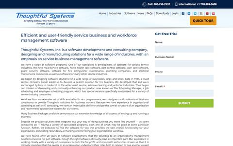Screenshot of About Page thoughtfulsystems.com - About Thoughtful Systems | Scheduling Software & Workforce Management - captured Sept. 21, 2018
