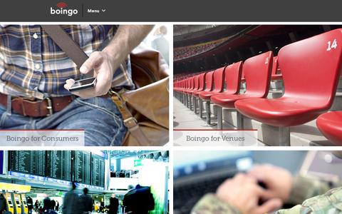 Screenshot of Home Page boingo.com - Boingo Wireless, Inc. (nasdaq: wifi) - captured July 11, 2014