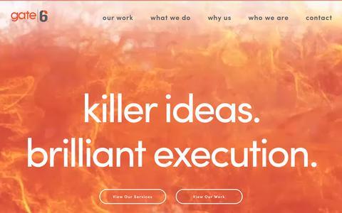Creative Web Design & Development Agency | Gate6