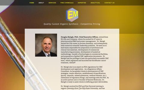 Screenshot of Team Page exxient.com - Leadership at Exxient Molecular — EXXIENT Molecular, LLC - captured Oct. 3, 2014