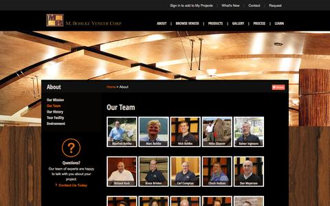 Screenshot of Team Page mbveneer.com - Our Team | M. Bohlke Veneer | 2688 - captured Oct. 3, 2014