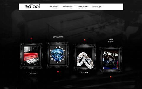 Screenshot of Home Page dipoi.com - Dipoi - captured Oct. 14, 2015