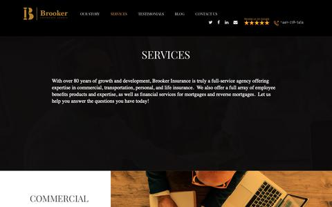 Screenshot of Services Page brooker-ins.com - Service - Brooker Insurance Agency - captured Oct. 6, 2018