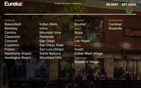 Screenshot of Locations Page eurekarestaurantgroup.com - Locations Archive - Eureka! Restaurants - captured Dec. 8, 2018