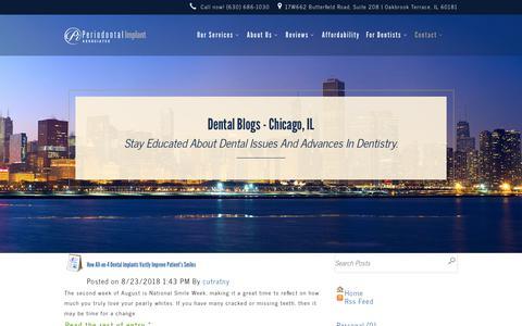 Screenshot of Blog pidentists.com - Dental Blog - Chicago, IL - Dr. Amarik Singh - Periodontist - captured Oct. 24, 2018