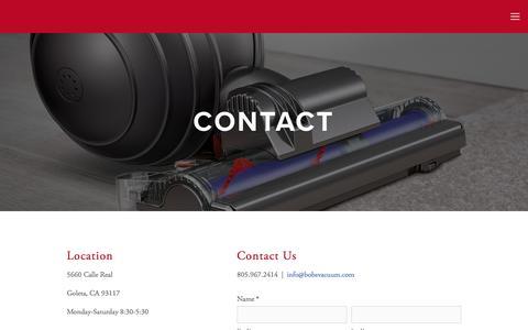 Screenshot of Contact Page bobsvacuum.com - Contact — Bob's Vacuum - captured June 2, 2017