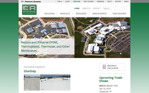 Screenshot of Menu Page ersystems.com - ERSystems | Hot Roofs. Cool Solutions. - captured Oct. 28, 2014