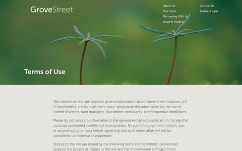 Screenshot of Terms Page grovestreet.com - Terms of Use - GroveStreet - captured Sept. 30, 2018