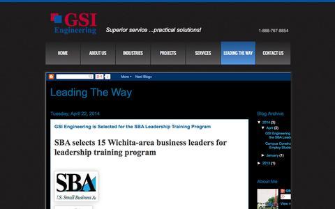 Screenshot of Blog gsinetwork.com - GSI Engineering Blog - captured Oct. 1, 2014