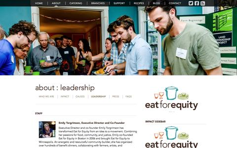 Screenshot of Team Page eatforequity.org - Leadership | Eat for Equity - captured May 14, 2017