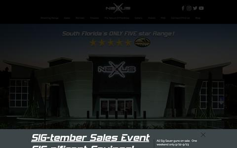 Screenshot of Home Page nexusshooting.com - Nexus Shooting | South Florida's 5 Star Gun Store and Shooting Range - captured Oct. 18, 2018