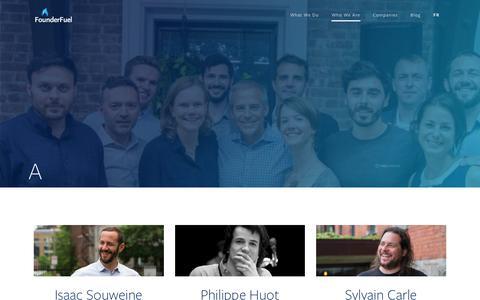 Screenshot of Team Page founderfuel.com - Team - FounderFuel - captured Nov. 14, 2018