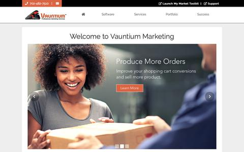 Screenshot of Home Page vauntiummarketing.com - Welcome to Vauntium Marketing - captured Nov. 15, 2018