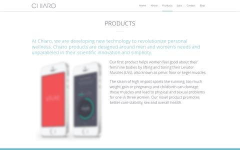 Screenshot of Products Page chiaro.co.uk - Products - Chiaro - captured July 19, 2014
