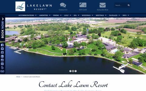 Screenshot of Contact Page lakelawnresort.com - Contact Lake Lawn Resort - Lake Lawn Resort - captured May 14, 2017