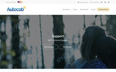 Screenshot of Support Page autocab.com - Support - Autocab - USA - captured May 5, 2017