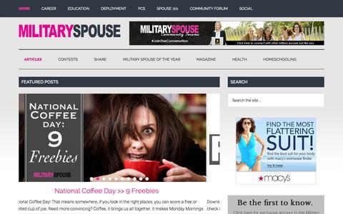 Screenshot of Home Page militaryspouse.com - Military Spouse - captured Sept. 30, 2015