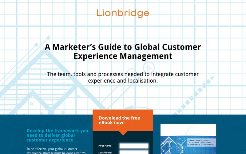 Lionbridge - A Marketer's Guide to Global Customer Experience Management [Gated] [EN-GB]