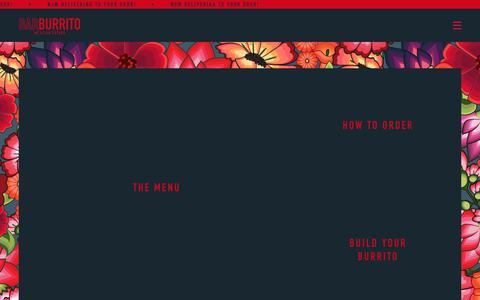 Screenshot of Menu Page barburrito.co.uk - Menu | Barburrito - captured July 13, 2018