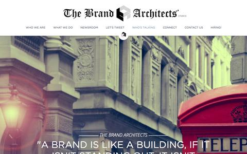 Screenshot of Home Page tbastudios.com - The Brand Architects' Studios. Brand Consultancy. - captured Oct. 7, 2014