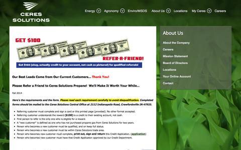 Screenshot of Press Page ceresllp.com - Banner News 1 - captured Nov. 1, 2014