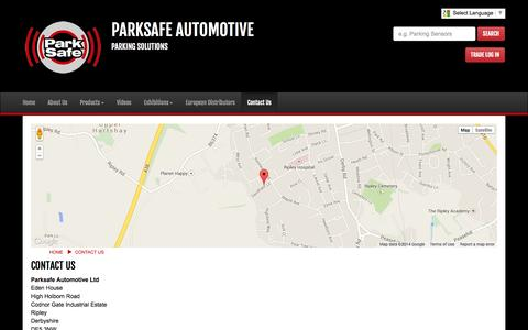 Screenshot of Privacy Page Contact Page parksafeautomotive.co.uk - Contact Us - Park Safe Parking Sensors - captured Oct. 26, 2014