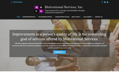 Screenshot of Home Page mocomaine.com - Personal Care Services and Medical Training | Augusta, ME | Motivational Services Inc. - captured Oct. 21, 2017