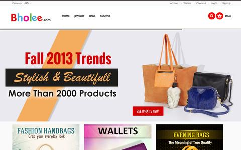 Screenshot of Home Page bholee.com - Online Shopping Store USA, Shopping Mall - captured Oct. 5, 2014