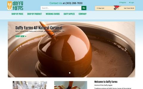 Screenshot of Home Page daffyapple.com - Daffy Apple and Daffy Farms products - captured Oct. 7, 2018