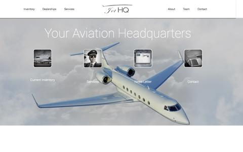 Screenshot of Home Page jethq.com - JetHQ | Your Aviation Headquarters - captured Sept. 30, 2014