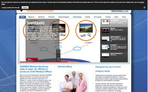 Screenshot of Home Page Privacy Page hermesmedical.com - Hermes Medical Solutions - Home - captured Sept. 22, 2014