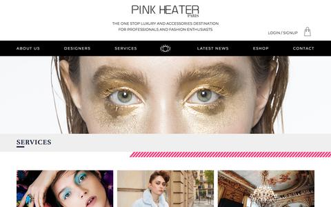 Screenshot of Services Page pinkheater.com - SERVICES | PINK HEATER - captured July 18, 2018