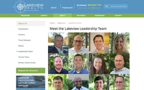Screenshot of Team Page lakeviewhealth.com - Lakeview Health's Leadership Team - captured Jan. 25, 2016