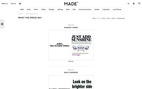 What the Press Say | made.com
