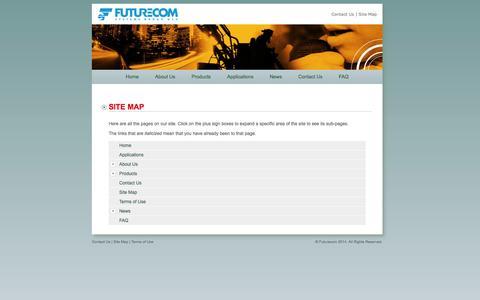 Screenshot of Site Map Page futurecom.com - Futurecom Systems Group: Site Map - captured Oct. 6, 2014