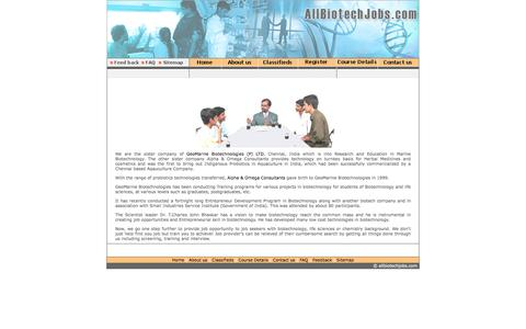 Screenshot of About Page allbiotechjobs.com - Allbiotechjobs.com bringing together job seekers and job providers in Biotechnology - captured Feb. 5, 2016