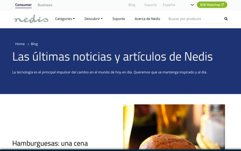 Screenshot of Blog nedis.com - Las últimas noticias y artículos de Nedis | Nedis - captured Dec. 13, 2018