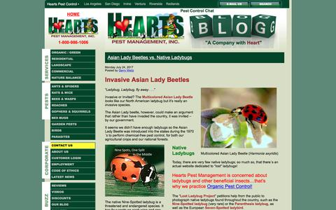 Screenshot of Blog heartspm.com - Pest Control Blog of Hearts Pest Management - captured Aug. 1, 2017