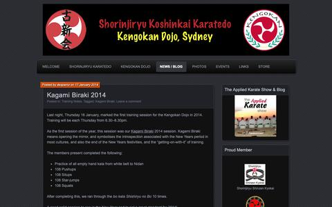 Screenshot of Press Page kengokan.com - News / Blog | Kengokan Karate Dojo Sydney | Shorinjiryu Koshinkai Karatedo Australia - captured Oct. 15, 2018