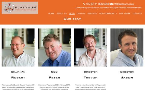 Screenshot of Team Page platynum.co.za - Team | Turnkey Workspace Interiors | Platynum - captured Nov. 8, 2016